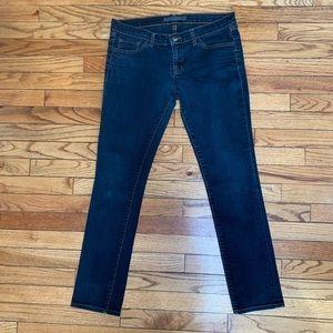 J brand dark rinse skinny jeans